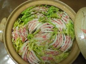 白菜 豚バラ 鍋