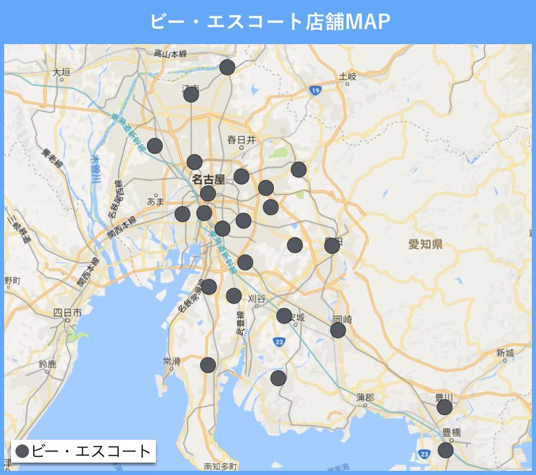 愛知のビーエスコートの地図