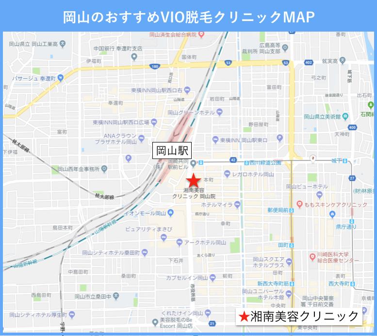 福山のVIO脱毛のおすすめクリニックの地図2