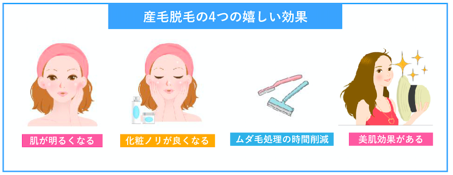 産毛の脱毛効果